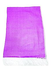Maira Women's Pashmina Shawls & Stoles Purple Colour