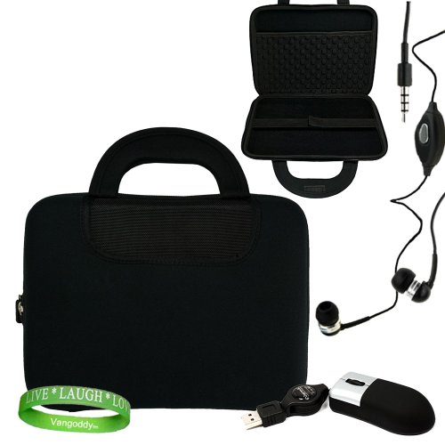 Acer Iconia Tab 10.1-Inch Tablet Iconia Accessories Kit: Black Iconia Hard Case with Attached Neoprene Pocket + Compatible USB Acer Iconia Mouse + Compatible Acer Iconia Earbud Earphones + Vangoddy Live * Laugh * Love Wrist band