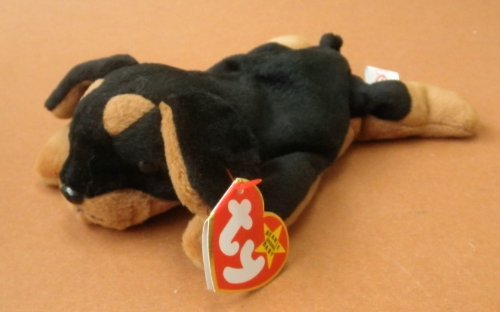TY Beanie Babies Doby the Dog Plush Toy Stuffed Animal - 1