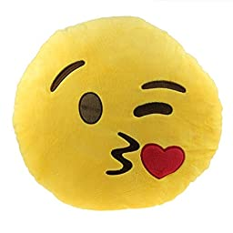 Deobox Cute Car Home Office Accessory Emoji Smiley Cushion Pillow Toy Gift