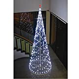 "96"" Light String Christmas Cone Tree White LED (195 Lights)"