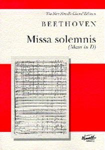 Beethoven Missa Solemnis Vocal Score from Music Sales