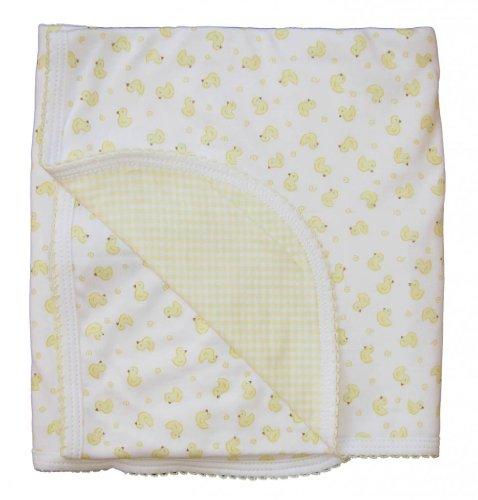 Kissy Kissy Baby Homeward Bound Chicks Print Gingham Blanket-One Size - 1