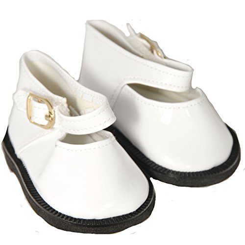 White Mary Jane Shoes for 18 Inch Dolls Like American Girl