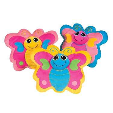 Butterfly Plush Pillow (Yellow) front-607401