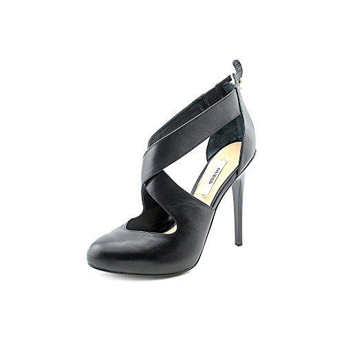 Guess Ramba Womens Size 9 Black Leather Pumps Heels Shoes