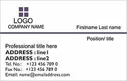 PERSONALIZED PAPER BUSINESS CARDS. Online visiting card printing. Set of 100 business cards. Choose design, send info and we print.