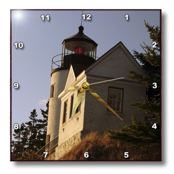 Dpp_144579_1 Danita Delimont - Lighthouses - Bass Harbor Lighthouse, Mt Desert Island, Maine Usa - Us20 Mhe0014 - Michel Hersen - Wall Clocks - 10X10 Wall Clock
