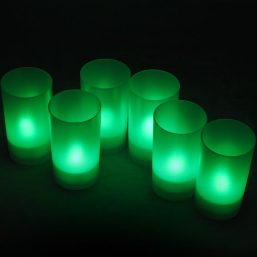 Daffodil LEC006G 6 LED Candele con Candeliere