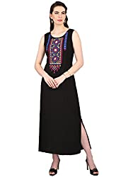 Srishti by fbb Women's Black Embroidered Dress
