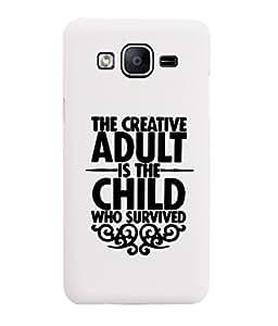 KolorEdge Back Cover For Samsung Galaxy On5 - White (6006-Ke15076SamOn5White3D)