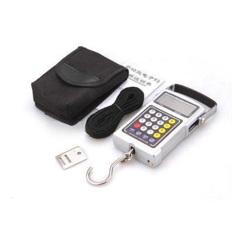 TOOGOO(R) 50KG 7en1 Dynamometre Balance de cuisine Balance de bagage balance a ressort Balance digitale