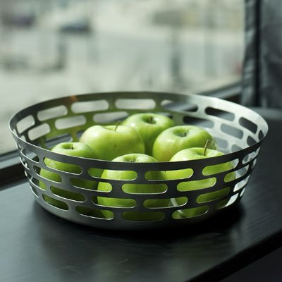 SteelForme Brushed 12-Inch Stainless Steel Round Fruit Bowl