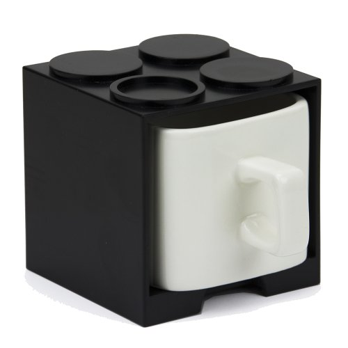 Cube Mug In A Black Stackable Drawer Case