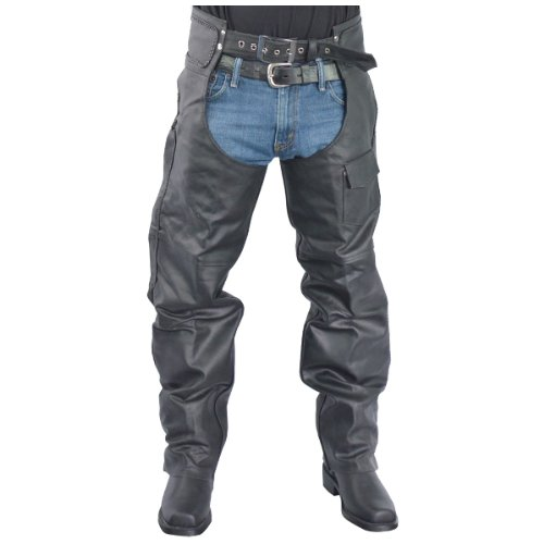 Jafrum Zip-Out Insulated and Lined Braided Leather Chaps 3XS