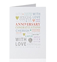Special Cover Text Anniversary Card
