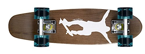 Ridge Skateboards Maple Mini Cruiser- NR1 Skateboard, Chiaro/Blu