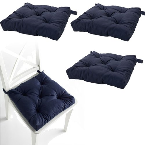 Set of 4 Navy Blue Chair Cushions Pads Machine Washable by  : 4155167Gn6L from www.bta-mall.com size 500 x 500 jpeg 29kB