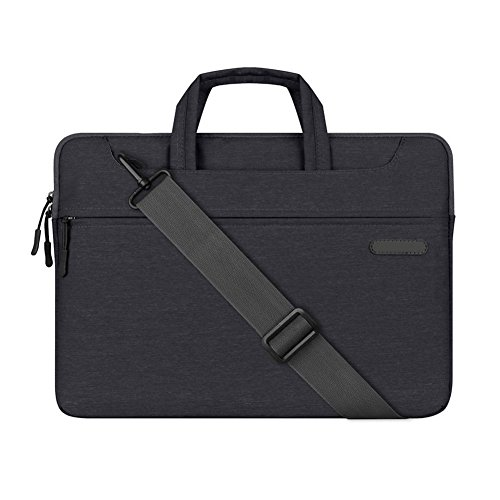 Upinva 13 Inch Laptop Case Bag Plush Water-Resistant Shock-Resistant Sleeve Case for Laptop/ Ultrabook/ Netbook/ MacBook 3D Cutting Design Fits Business Trip for Unisex (Black)