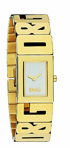 D & G Ladies Watch DW0290 with Silver Analogue Dial, Gold Colour Case and Bracelet