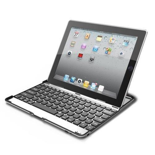 VSTNApple Ipad Air 2 ,ipad air 2 2014専用 脱着式Bluetooth キーボード ケース一体型 良質PUレザーケース付き(ブラック) (Ipad Air 2, アルミ合金キーボード(ブラック))