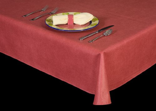 """Series 6116 Oat 13 Gauge Fitted Vinyl Tablecloth For 64"""" Round Table"""