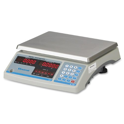 "Salter-Brecknell B120 Electronic Counting Scale With Led Display, 8-3/4"" Length X 11-1/2"" Width X 1/2"" Height, 60Lbs Capacity"