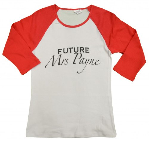 21 Century Clothing Women'S Future Mrs Payne Baseball Shirt Large (12-14) White Body / Red Sleeves