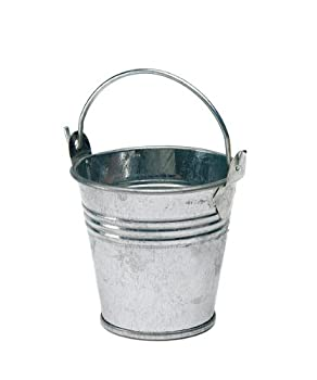 Minature Metal Pails, Silver