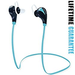 Bluetooth Earbuds with mic. Wireless Ear Buds, Headphones Sport Noise Isolating, High Quality Stereo Sound - CSR V4.0 Chip - Sleek Custom Headset, Lightweight Design - Running, Jogger, Gym, Hiking, Extreme Sports - Pairs easy & Fits All Android Cell Phones, iPhone 6, 6 Plus, 5, 5c, 5s, 4, iPad - 100% Lifetime Guaranteed