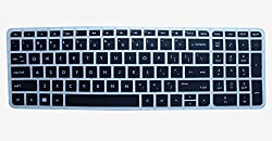 kmltail Soft Silicone Keyboard Cover Protector Skin forHP 15-ac170tu 15.6 inch laptop-(Semi Black)