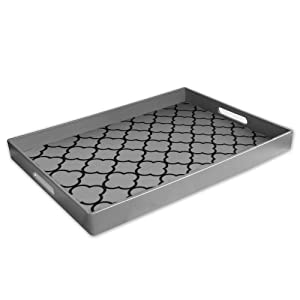 Accents by Jay Clover Serving Tray, Silver by Accents Jay