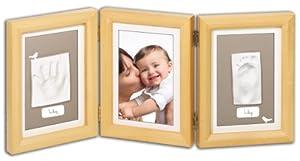Baby Art Double Print Frame - Marco triple para fotos y huellas de mano o pie de Dorel