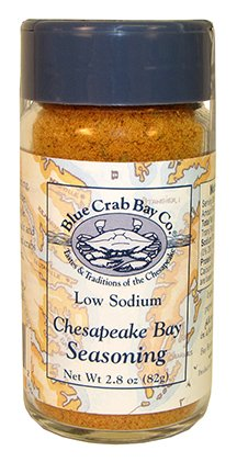 Blue Crab Bay Co. All Purpose Low Sodium Chesapeake Bay Seasoning , 3.4-Ounce Container (Pack of 6)