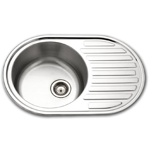 Houzer SDR-3019-1 Hospitality Stainless Steel Drain Board Round Bar or Prep Sink, 30-1/4-by-19-3/4-Inch