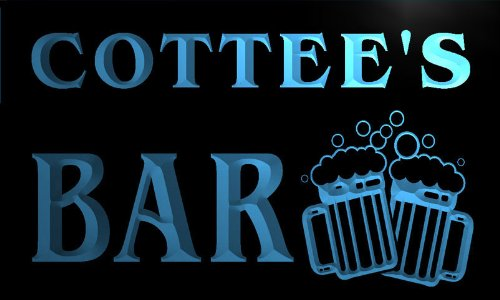 w147300-b-cottee-name-home-bar-pub-beer-mugs-cheers-neon-light-sign
