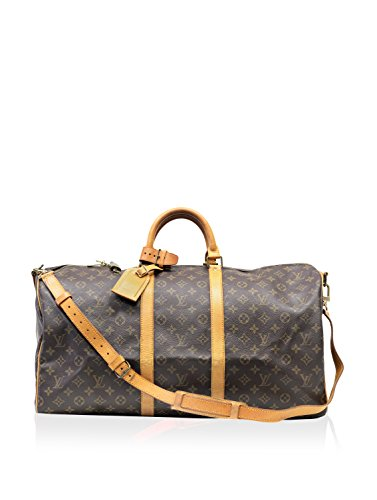 Louis Vuitton Monogram Keepall Bandoliere 50, Brown Monogram