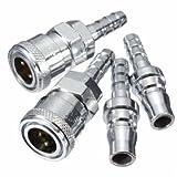 Male Female 8mm Gas Hose Copper Nozzle Quick Release Connector Caravan BBQ SH+PH
