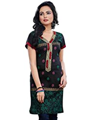 Short Sleeve Indian Kurti Womens Long Tunic Top Cotton