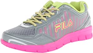 Fila Women's Winsprinter Running Shoe,Monument/Neon Pink/Lime Punch,9 M US