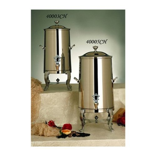 Bon Chef 40001 Stainless Steel Aurora Insulated Coffee Urn, 1-1/2 Gal Capacity, Brass Accents