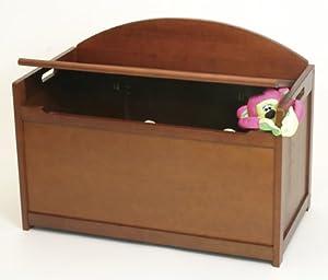 Child's Wooden Toy Box Chest - Cherry
