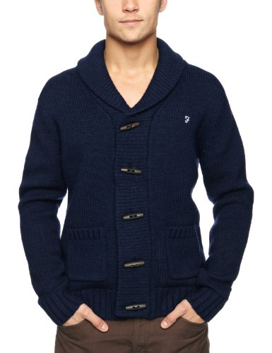 Farah 1920's The Monk Men's Cardigan Midnight Large