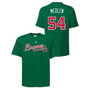 Kris Medlen Atlanta Braves Green Player T-Shirt by Majestic by Majestic