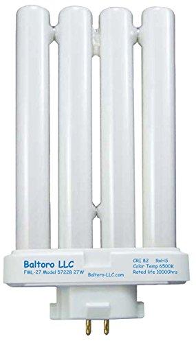 FML27/65K 6500K Daylight Full Spectrum 27W Fluorescent 4-PIN Replacement Light Bulb