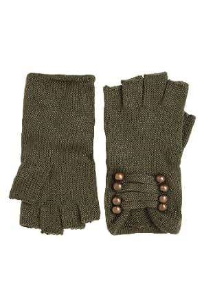 Olive Brass Fingerless Military Gloves