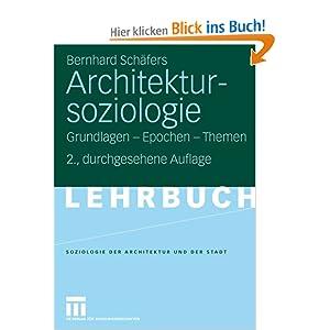 eBook Cover für  Architektursoziologie Grundlagen Epochen Themen