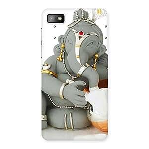 Delighted Ganesha Ji Multicolor Back Case Cover for Blackberry Z10