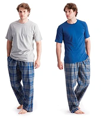 Comfortable Men's Nightwear. Our pure cotton men's pyjamas make for a peaceful and comfortable night's sleep, while a night spent at home wearing a pair of men's pure cotton lounge pants and a skin-kind men's cotton vest is the perfect way to while away chilly evenings.