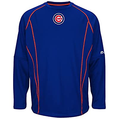 Chicago Cubs Majestic MLB Authentic On-Field Crew Pullover Sweatshirt